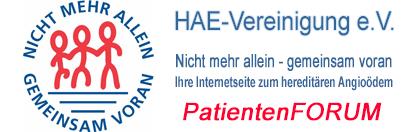 HAE-Vereinigung e.V. | Nicht mehr allein - gemeinsam voran | Ihre Internetseite zum hereditären Angioödem
